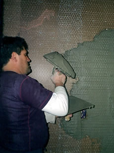 Wet plastering is the traditional method of plastering and a difficult technique to master